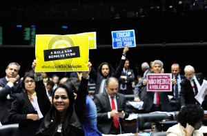 Both defenders and supporters of the bill were present at the session that extended over four hours. (Luis Macedo / Câmara dos Deputados)