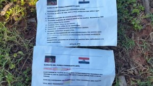 The Paraguayan guerrilla left a pamphlet next to the bodies with a series of demands for ranch owners and employees.